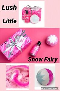 Lush Little Snow fairy Gift Sets X 1 Shower gel 100g Bath Bomb 180g