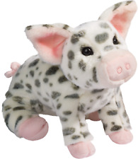 PAULINE the LARGE Stuffed SPOTTED PIG Plush - by Douglas Cuddle Toys
