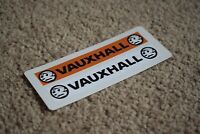 VAUXHALL Number Plate Racing Rally Motorsport Race Car Decal Stickers Logo 100mm