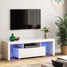 VASAGLE großer Fernsehtisch mit LED TV-Schrank Lowboard TV-Regal 60 Zoll LTV14WT