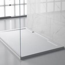 Duschwanne Duschtasse Dusche mit Rand elegante Schiefer Optik flach Mineralguss