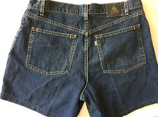 Levi's Silvertab Baggy Denim Jean Shorts Made in USA Size 36 Hemmed