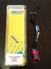 HONDA  CR250  CR 250  2004-2007  APICO ELITE FORGED GEAR PEDAL LEVER RED TIP