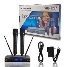 Staraudio 2 Channel Uhf Handheld Wireless Microphone System 2Ch Uhf Church Mic