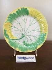 Antique Wedgwood Majolica YELLOW GREEN & WHITE LEAF PLATE c. 1861 (F)