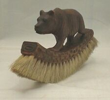 Black Forest Strolling Bear Curved Hat Brush (ref B20)