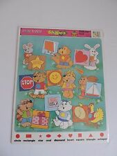 Fun with Shapes Frame Tray Puzzle Vintage 1980s Animals Cat Racoon Chicken Dog