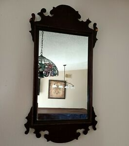 Antique Wall Mirror Wood Frame Decorative