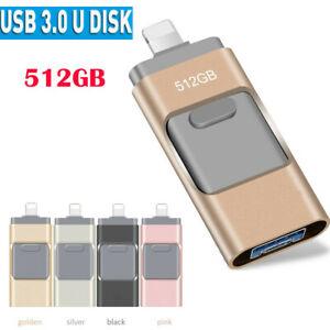 512GB 1TB OTG USB 3.0 Flash Drives Thumb Stick Pendrive For iPhone X XR iPad PC