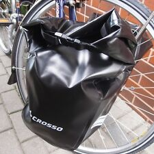 front BAGS CROSSO Dry Waterproof set of Two panniers  2x15L Panners, touring