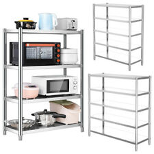 More details for 4/5 tier stainless steel kitchen shelving commercial standing shelf storage rack