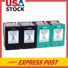 4PK 92 93 Ink Cartridge B  C For HP Deskjet 4145 4155 4160 5420 5443