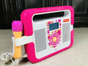 Fisher Price KID TOUGH MUSIC PLAYER Mp3 KARAOKE with Microphone Pink TESTED NICE