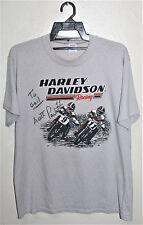 VINTAGE 80's HARLEY DAVIDSON SCOTT PARKER MOTORCYCLE RACING T-SHIRT 3D EMBLEM