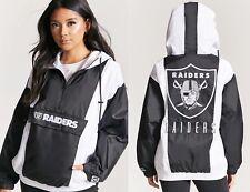 NFL Oakland Raiders Anorak Jacket womens size MEDIUM parka starter top shirt