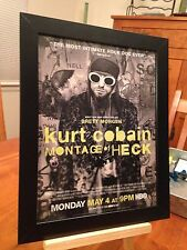 "FRAMED NIRVANA / KURT COBAIN ""MONTAGE OF HECK"" DOCUMENTAY DVD CD PROMO AD"