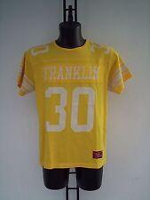 T-SHIRT  FRANKLIN & MARSHALL  IN  COTONE  GIALLA  CON NUMERO  30   TG M