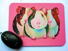 Artist Mouse Mat with an original GUINEA PIG design by Maria Moss