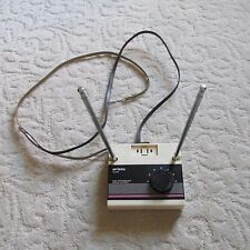 Vintage Arista rabbit ear TV Antenna; VHF/FM, UHF, with integrated outlet
