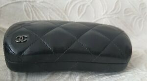 Chanel Quilt Stitched Leather  Sunglasses Case