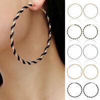 Women Big Large Round Circle Hoop Dangle Earrings Fashion Punk Ear Studs Jewelry
