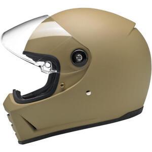 Biltwell Lane Splitter Motorcycle Helmet - Flat Coyote Tan - Choose Size