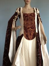 Handmade Designer Original Renaissance Fair Wedding Dress Costume Cosplay Fenner