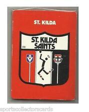 1989 AFL VFL SCANLENS ST KILDA SAINTS TEAM SET ALL 11 CARD