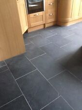 Brazilian Slate Tiles Flooring 35m2 600x400 10mm Thick✔Calibrat Black✔FREE DEL