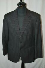 "Vintage Daks classic black pin stripe wool classic jacket size large 42"""