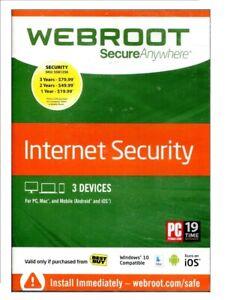 New Webroot Secure Anywhere. Internet Security w/ Antivirus.