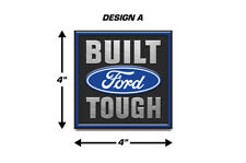 Built Ford Tough Emblem Logo Decal 2PK Set for F150 F-150 Truck Stickers BLUE
