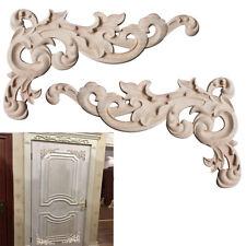 Pop Woodcarving Corner Decals Elegant Wood Carved Appliques Home Decor 1 Pair