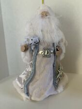 Santa Claus Doll Tree Topper- White & Light Blue