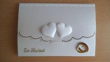 3D-Geldgeschenk-Grusskarte °verbundene Herzen° Hochzeit - sehr edle Handarbeit