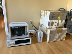 IBM 5150 Personal Computer & 5153 Monitor w/ Original Boxes & DOS - Excellent