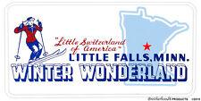 Little Switzerland Little Falls, MN Winter Wonderland Aluminum License Plate