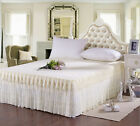 Luxury Romantic Soft Lace Bed Fitted Sheet (Bed Skirt)/Valance/Frills