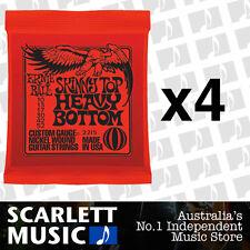 4x Ernie Ball Skinny Top Heavy Bottom 10-52 Electric Strings *SET OF 4 PACKS*