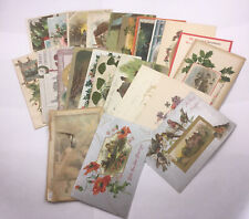 Vintage Christmas & New Years Postcards Many Embossed Lot of 20+