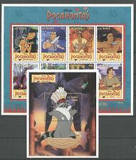Walt Disney, Pocahontas - Guyana - 5174-5181, Bl.462 ** MNH 1995