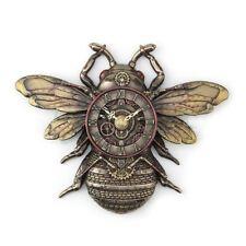 "Steampunk Bee 10.85"" Cold Cast Bronze Wall Clock"