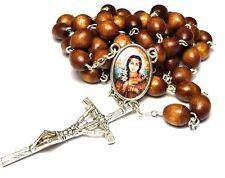 Saint Kateri Tekakwitha brown big relic rosary ecologists ecology, environment