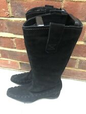 Kennel And Schmenger Ladies Black Suedes Zip Up Boots EUR  5 / 38 EUR