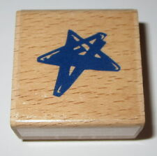 STAR Rubber Stamp Shapes Celestial Wood Mounted Stars New Night Sky