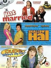 JUST MARRIED*SHALLOW HAL*DUDE WHERE'S MY CAR Kutcher Comedy DVD Set *EXC*