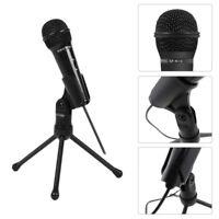 Audio Professional Condenser 3.5mm Microphone Mic Studio Recording w Shock Mount