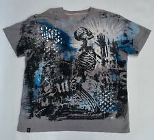 MARC ECKO graphic tee - mens size XXL - gray - skull - angel - skeleton