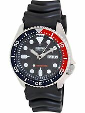 Seiko Men's Automatic SKX009K Black Rubber Self Wind Diving Watch