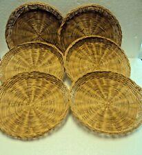Lot Of 6 Wicker Paper Plate Holders